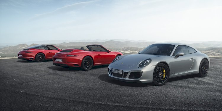 The new 911 GTS models. Photo by Porsche AG