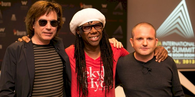 Jean Michel Jarre joins Nile Rodgers as AFEM Ambassador. Photo by IMS - International Music Summit