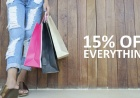 15% percent off on everything