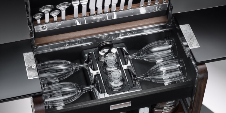 The Phantom Zenith Collection Picnic Hamper. Photo by Rolls-Royce Motor Cars