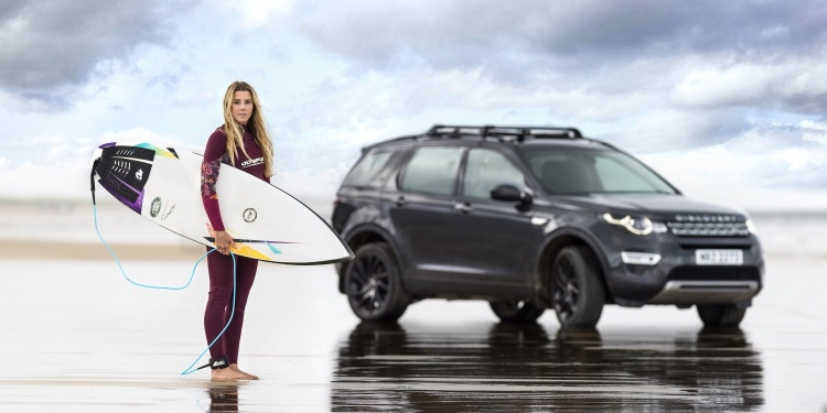 A Surfboard made from recycled plastic. Photo by Jaguar Land Rover