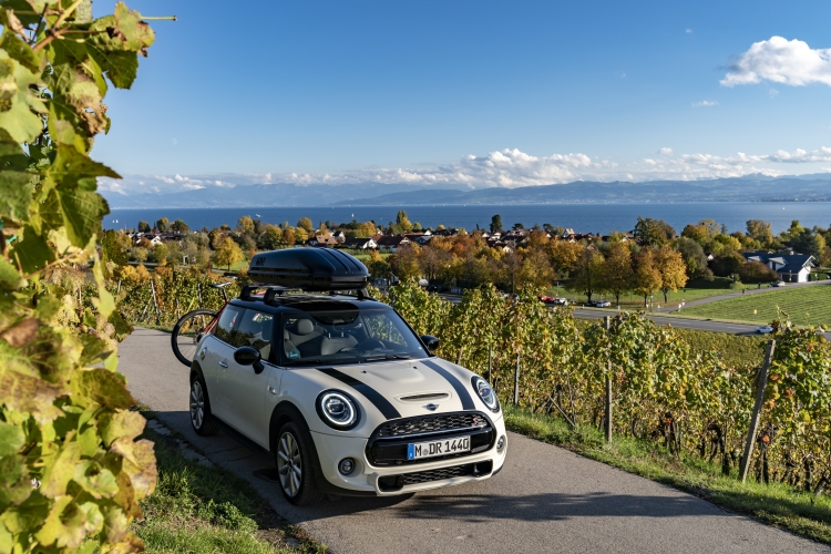 Exploring Lake Constance in the MINI Cooper S. Photo by BMW Group
