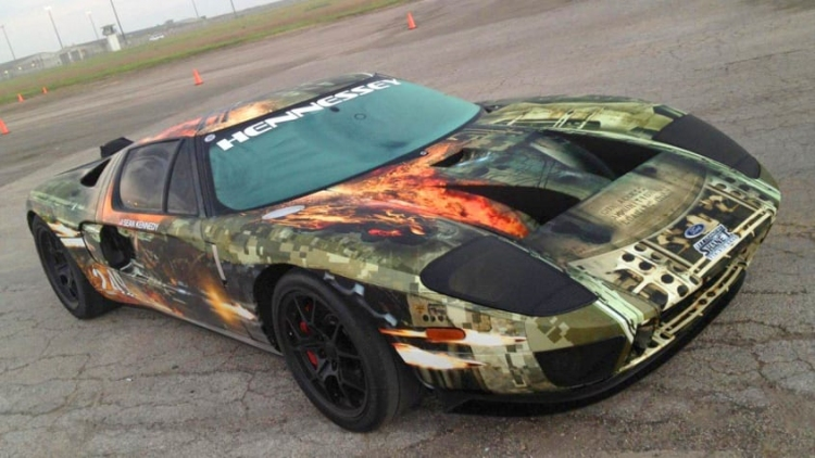 Hennessey Ford GT Hits A Record 267.6 MPH At The Texas Mile. Photo by Hennessey Performance