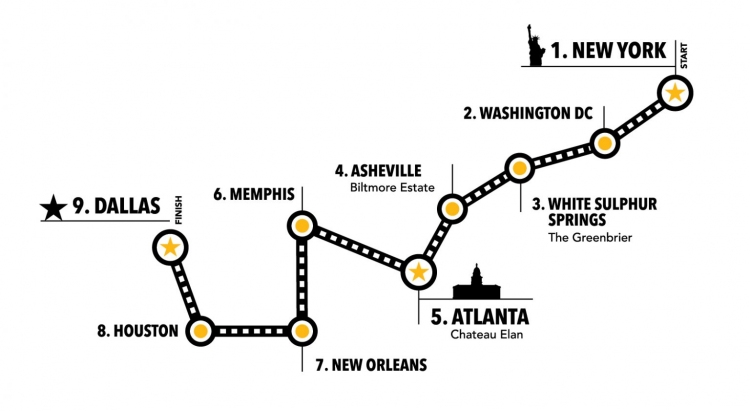 2021 goldRush Rally Route